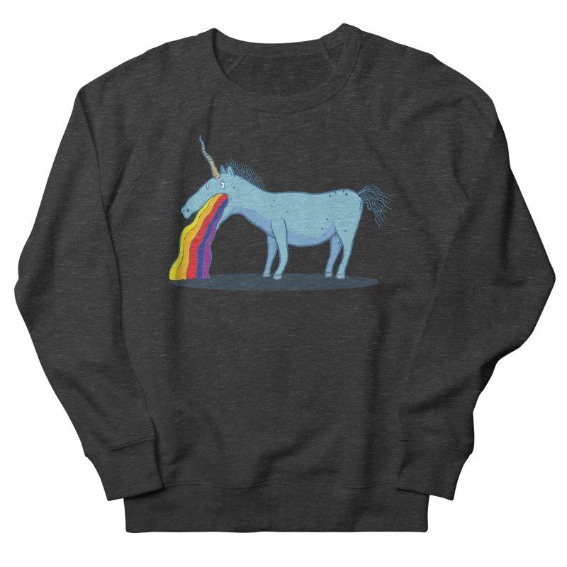 Puke-icorn Women's French Terry Sweatshirt by Magnus Blomster