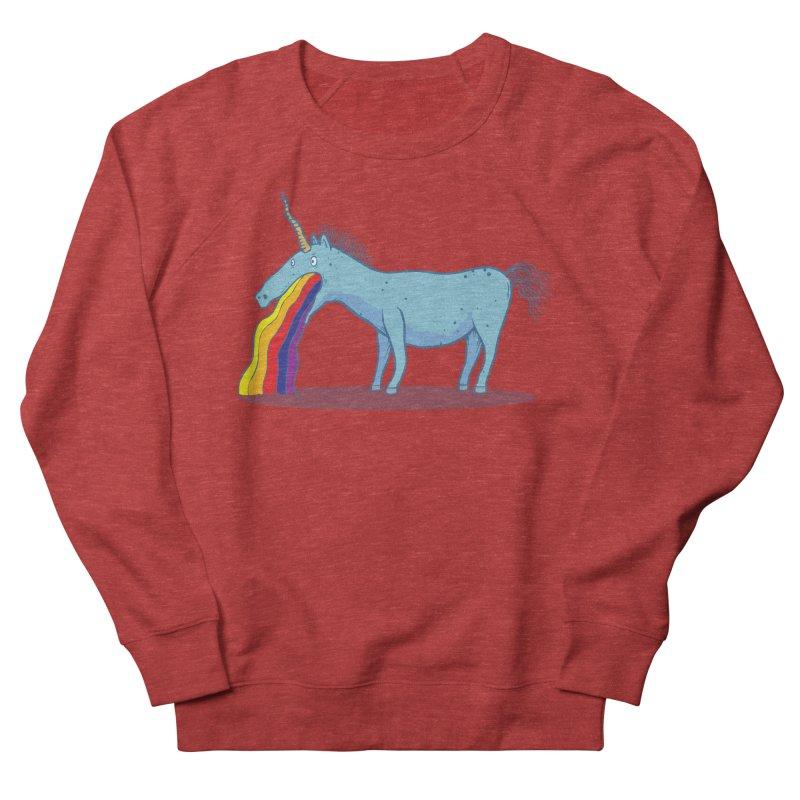 Puke-icorn Men's French Terry Sweatshirt by Magnus Blomster