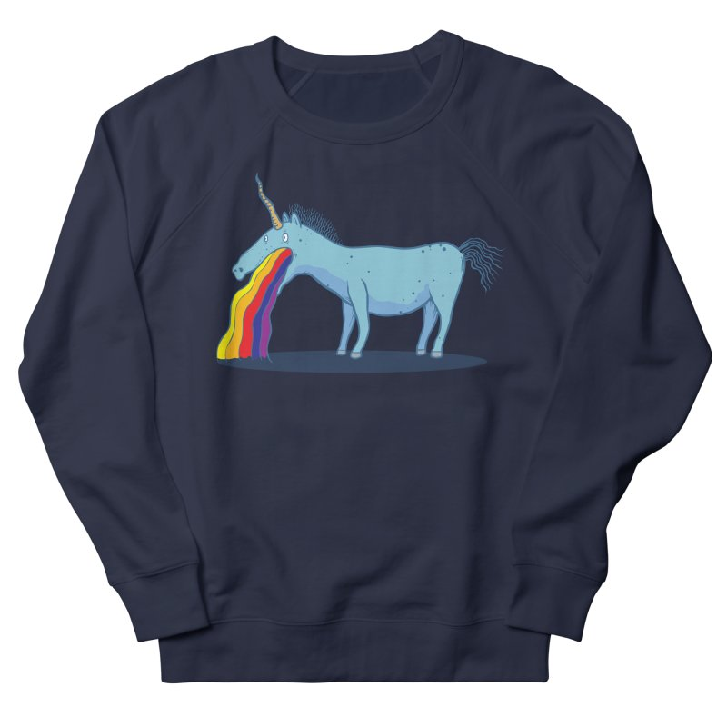 Puke-icorn Men's French Terry Sweatshirt by Magnus Blomster