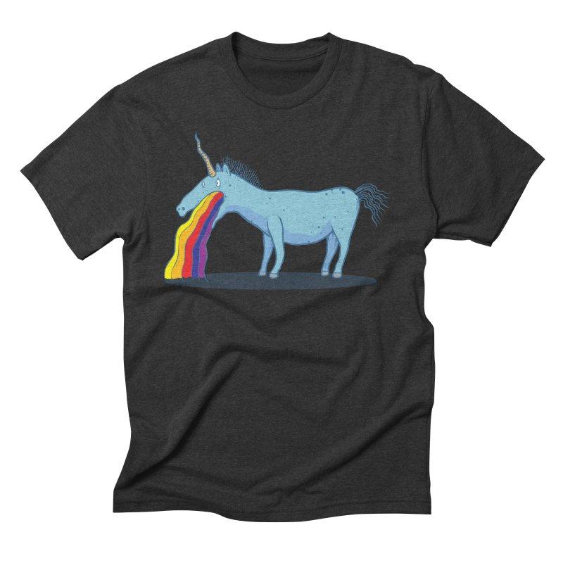 Puke-icorn Men's Triblend T-Shirt by Magnus Blomster