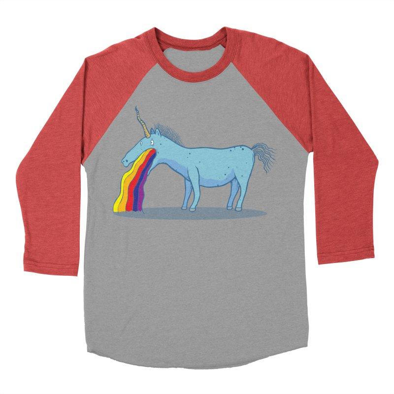 Puke-icorn Women's Baseball Triblend Longsleeve T-Shirt by Magnus Blomster