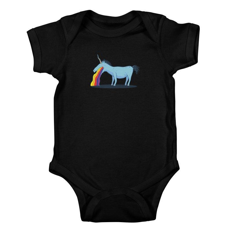 Puke-icorn Kids Baby Bodysuit by Magnus Blomster