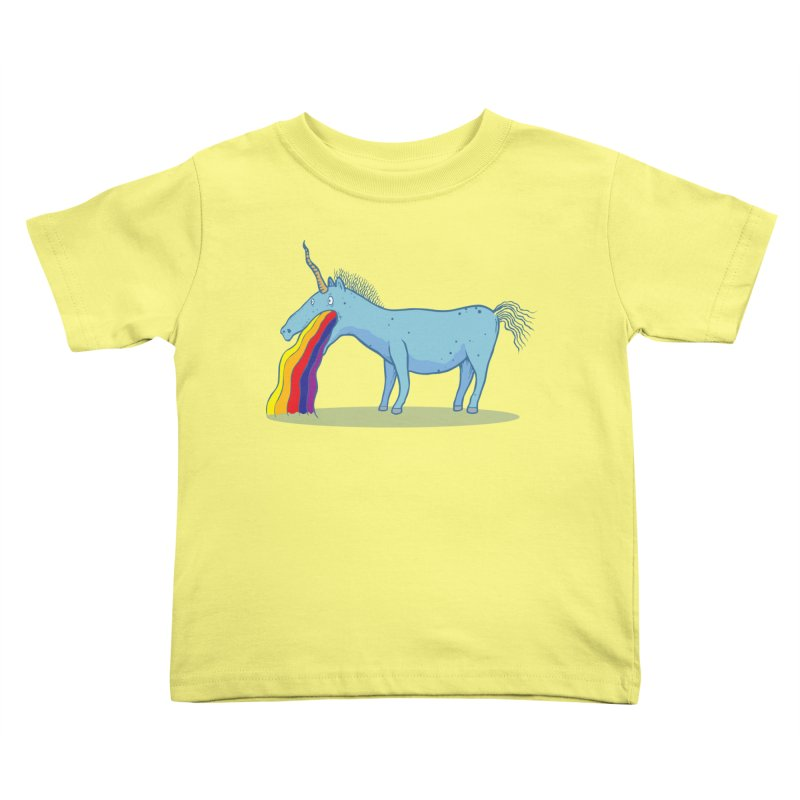 Puke-icorn Kids Toddler T-Shirt by Magnus Blomster