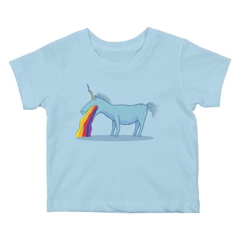 Puke-icorn Kids Baby T-Shirt by Magnus Blomster