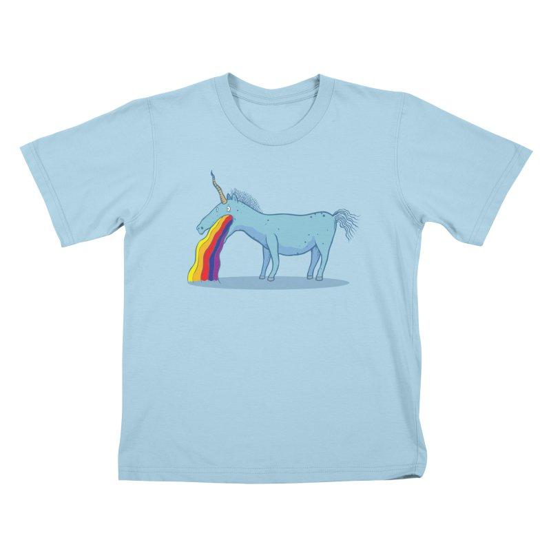 Puke-icorn Kids T-Shirt by Magnus Blomster