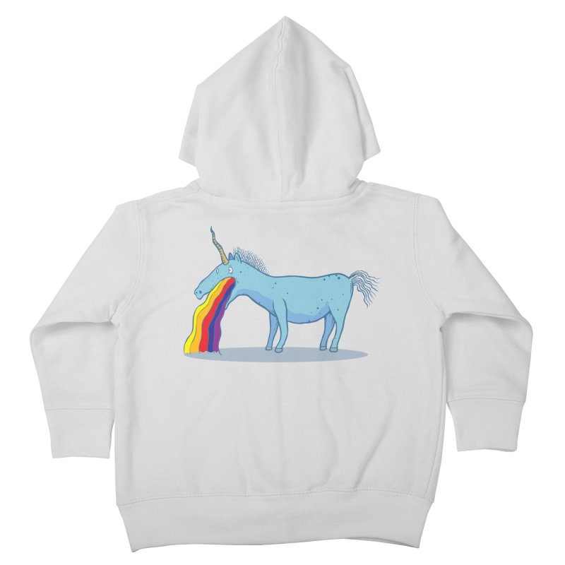 Puke-icorn Kids Toddler Zip-Up Hoody by Magnus Blomster
