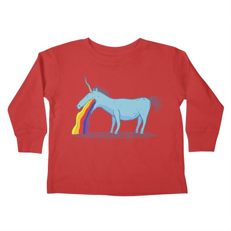 Puke-icorn Kids Toddler Longsleeve T-Shirt by Magnus Blomster