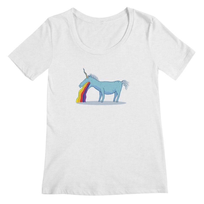Puke-icorn Women's Regular Scoop Neck by Magnus Blomster