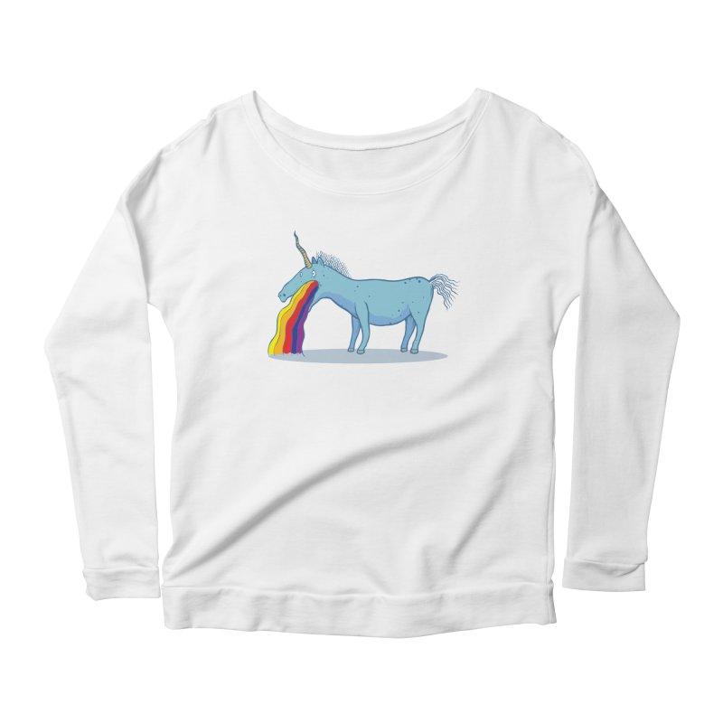 Puke-icorn Women's Scoop Neck Longsleeve T-Shirt by Magnus Blomster