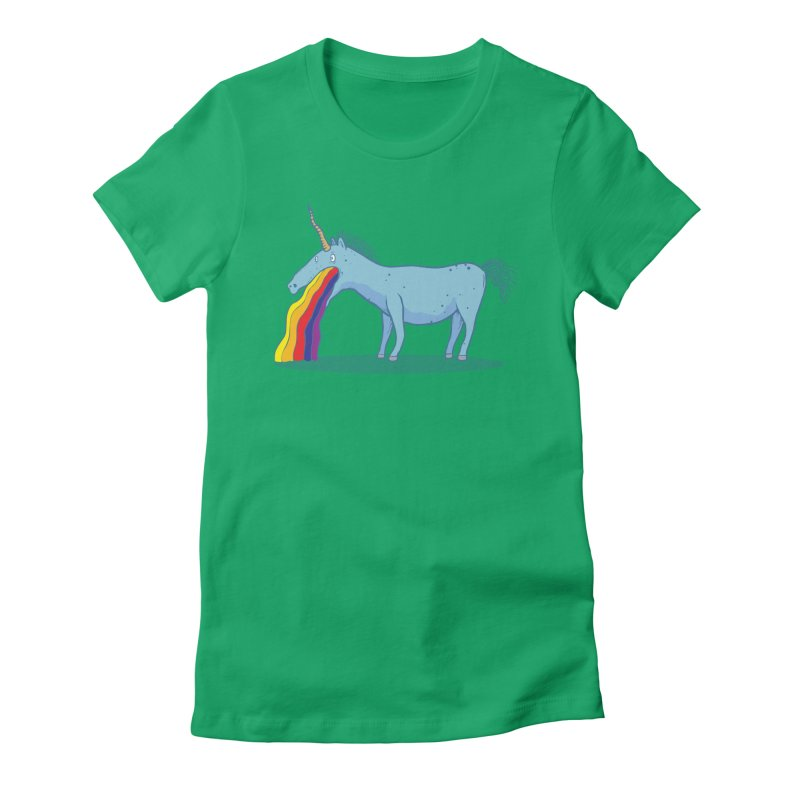 Puke-icorn Women's Fitted T-Shirt by Magnus Blomster