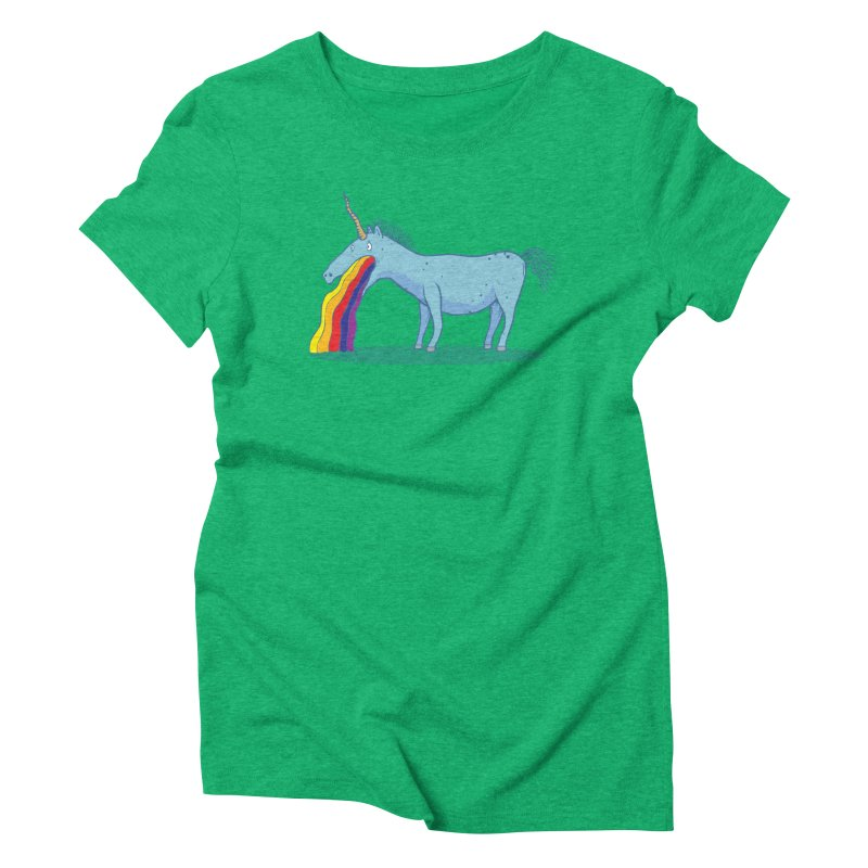 Puke-icorn Women's Triblend T-Shirt by Magnus Blomster