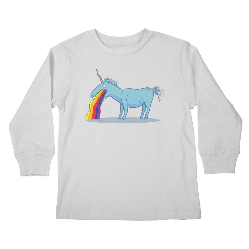 Puke-icorn Kids Longsleeve T-Shirt by Magnus Blomster