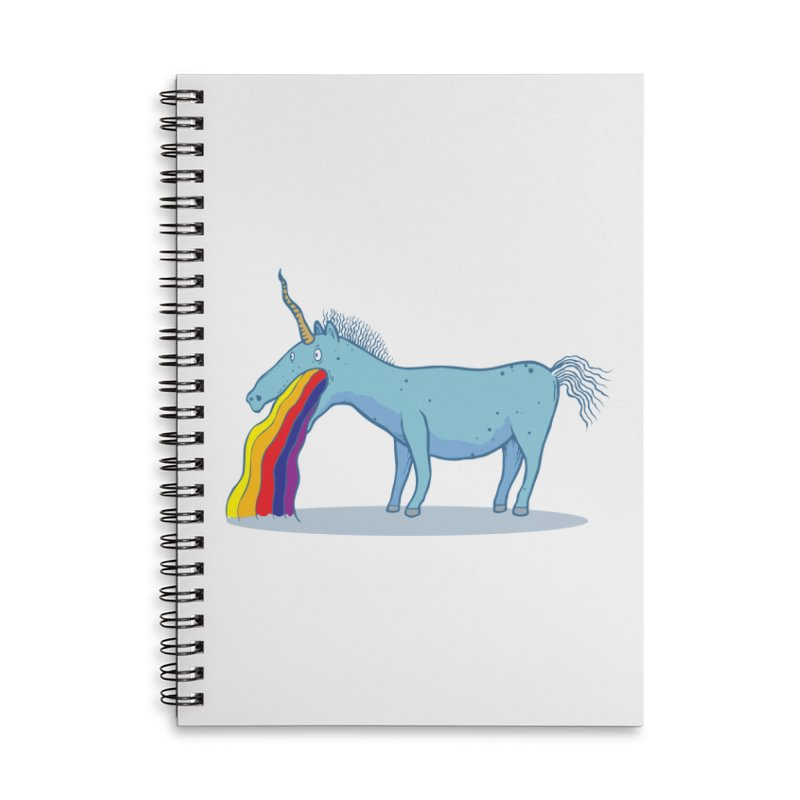 Puke-icorn Accessories Lined Spiral Notebook by Magnus Blomster