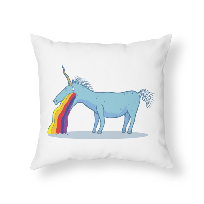 Puke-icorn Home Throw Pillow by Magnus Blomster