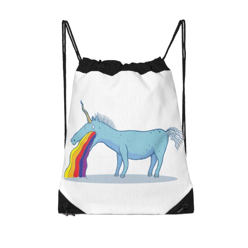 Puke-icorn Accessories Drawstring Bag Bag by Magnus Blomster