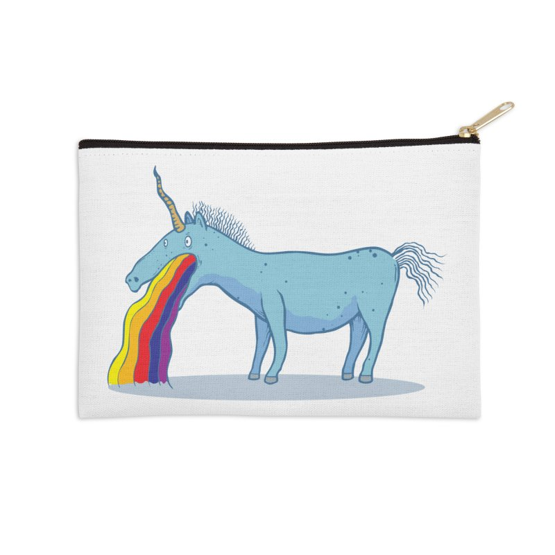 Puke-icorn Accessories Zip Pouch by Magnus Blomster