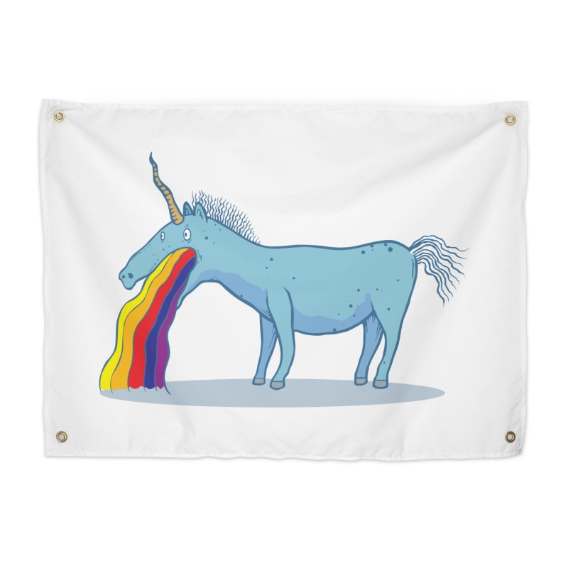 Puke-icorn Home Tapestry by Magnus Blomster