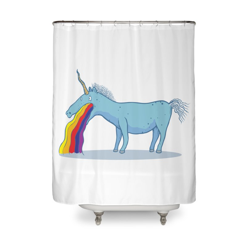 Puke-icorn Home Shower Curtain by Magnus Blomster