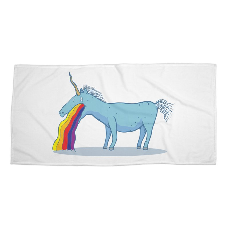 Puke-icorn Accessories Beach Towel by Magnus Blomster