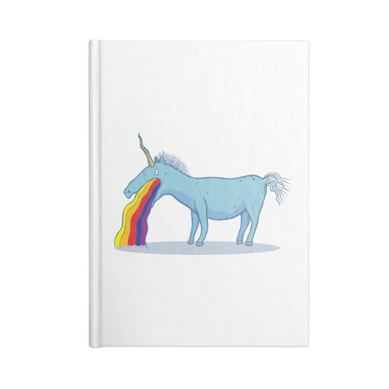 Puke-icorn Accessories Blank Journal Notebook by Magnus Blomster