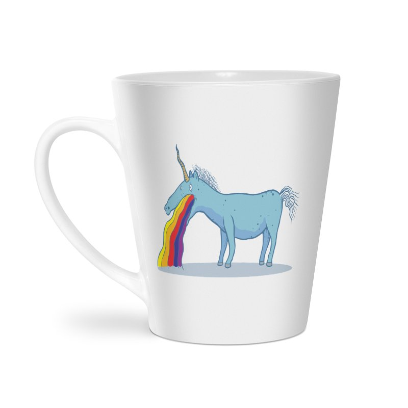 Puke-icorn Accessories Latte Mug by Magnus Blomster