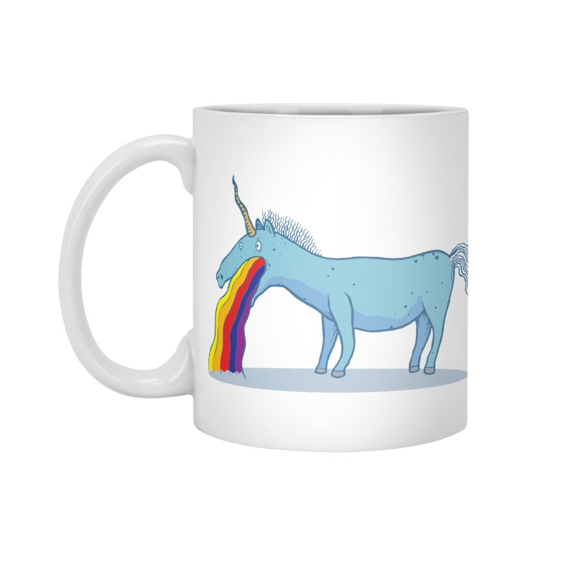 Puke-icorn Accessories Standard Mug by Magnus Blomster
