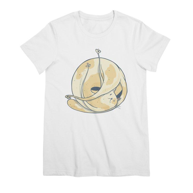 Ball of cat Women's Premium T-Shirt by Magnus Blomster