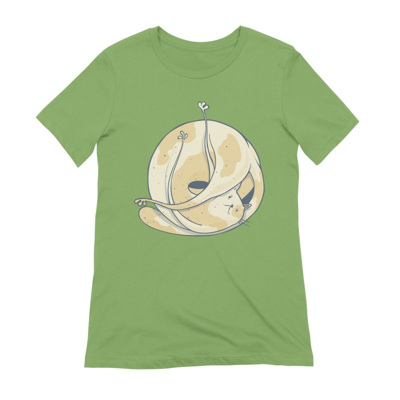 Ball of cat Women's Extra Soft T-Shirt by Magnus Blomster