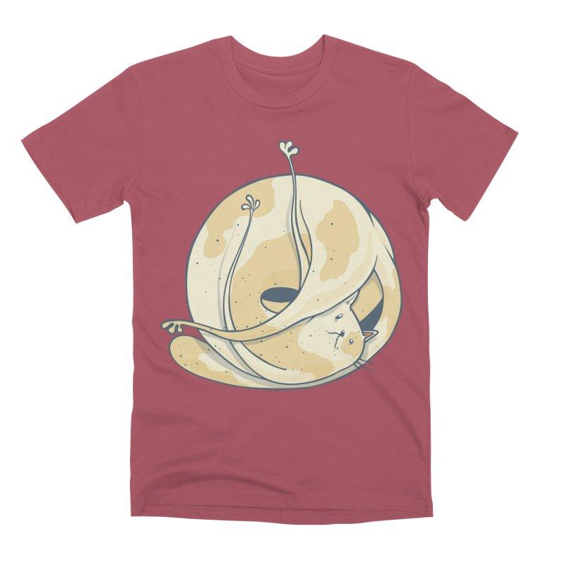 Ball of cat Men's Premium T-Shirt by Magnus Blomster