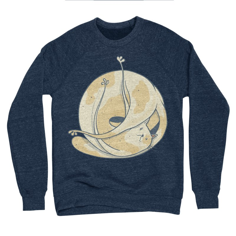 Ball of cat Men's Sponge Fleece Sweatshirt by Magnus Blomster