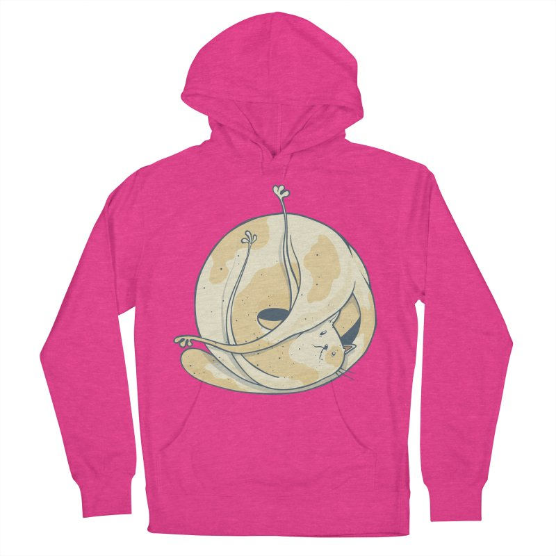 Ball of cat Women's French Terry Pullover Hoody by Magnus Blomster