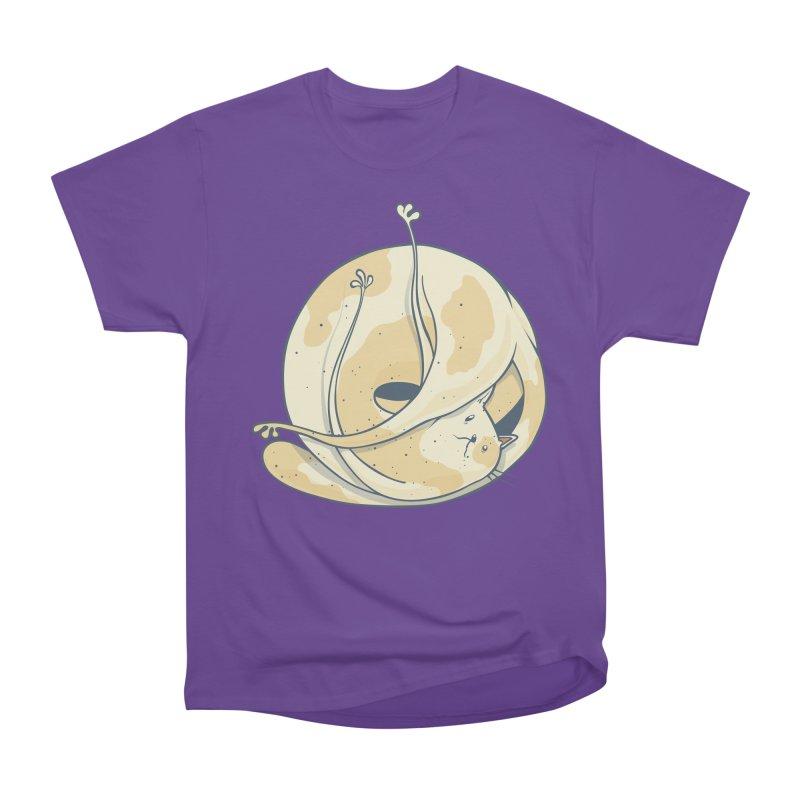 Ball of cat Women's Heavyweight Unisex T-Shirt by Magnus Blomster