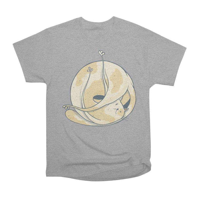 Ball of cat Men's Heavyweight T-Shirt by Magnus Blomster