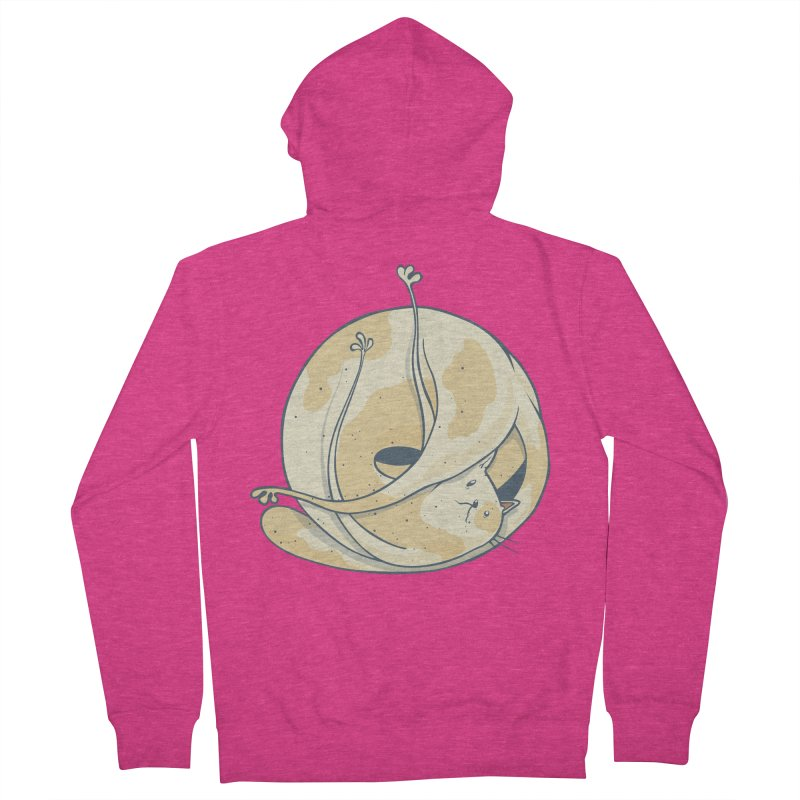 Ball of cat Women's French Terry Zip-Up Hoody by Magnus Blomster