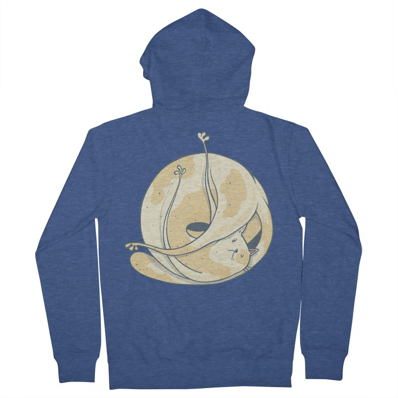 Ball of cat Men's French Terry Zip-Up Hoody by Magnus Blomster