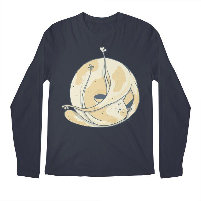 Ball of cat Men's Regular Longsleeve T-Shirt by Magnus Blomster
