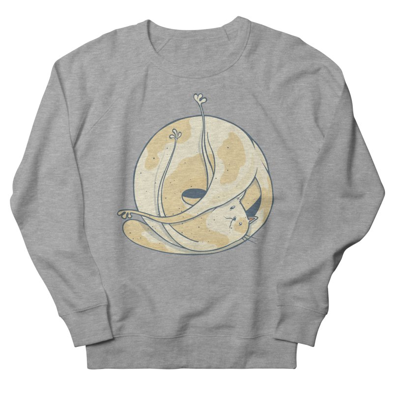 Ball of cat Women's French Terry Sweatshirt by Magnus Blomster