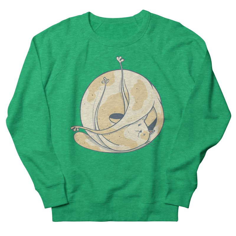 Ball of cat Men's French Terry Sweatshirt by Magnus Blomster