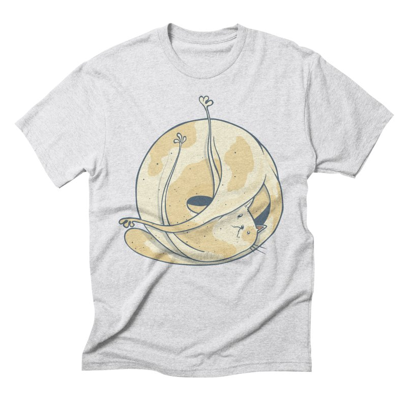 Ball of cat Men's Triblend T-Shirt by Magnus Blomster