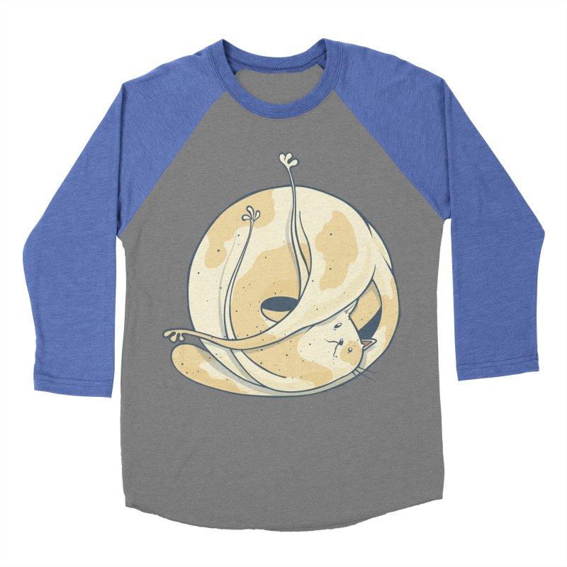 Ball of cat Women's Baseball Triblend Longsleeve T-Shirt by Magnus Blomster