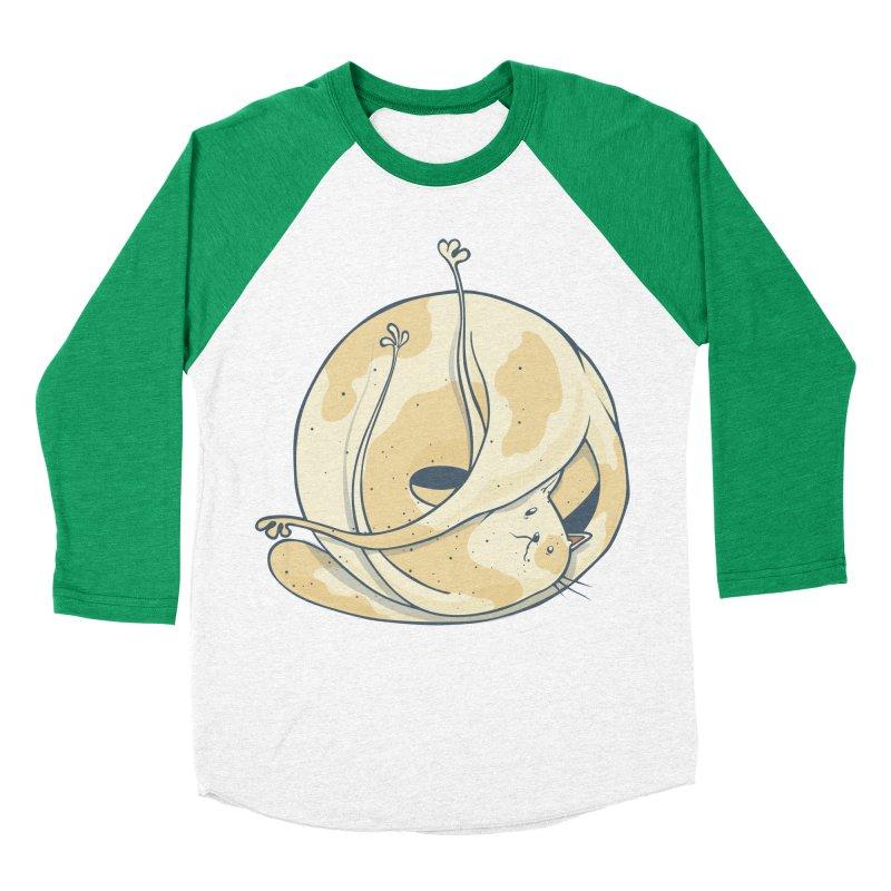 Ball of cat Men's Baseball Triblend Longsleeve T-Shirt by Magnus Blomster