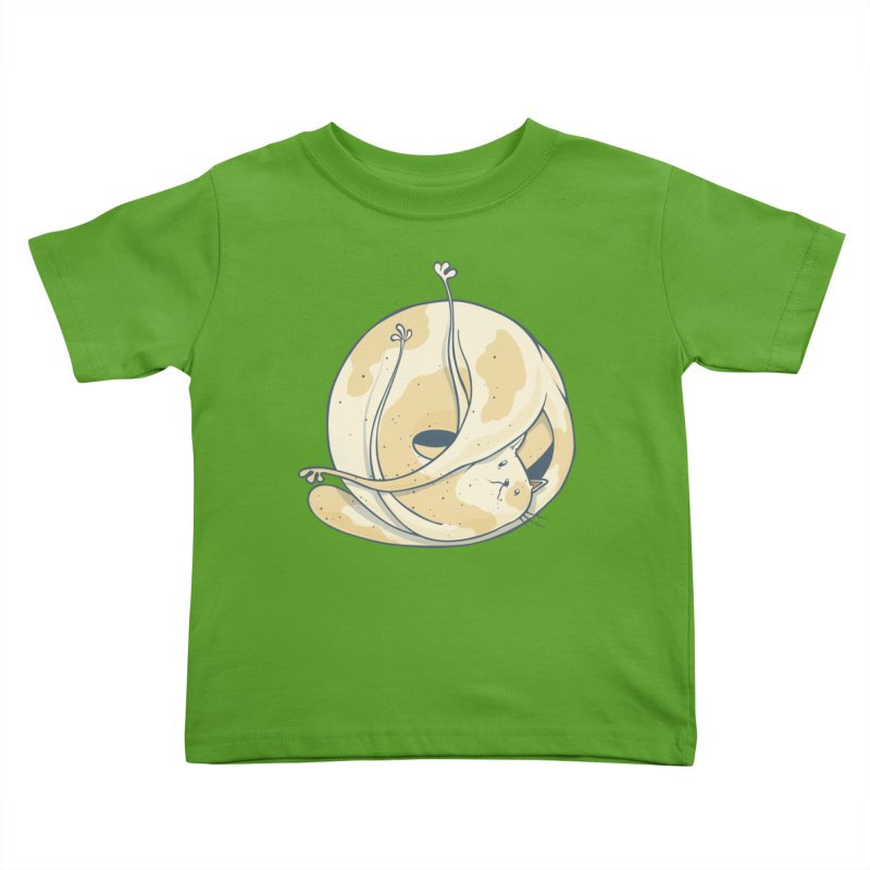 Ball of cat Kids Toddler T-Shirt by Magnus Blomster