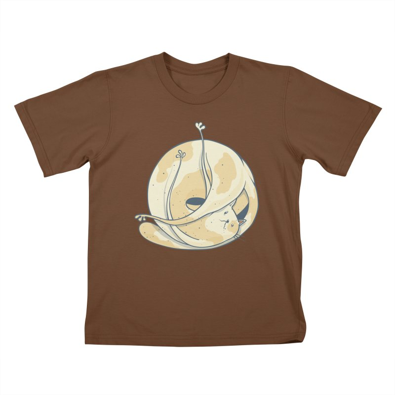 Ball of cat Kids T-Shirt by Magnus Blomster