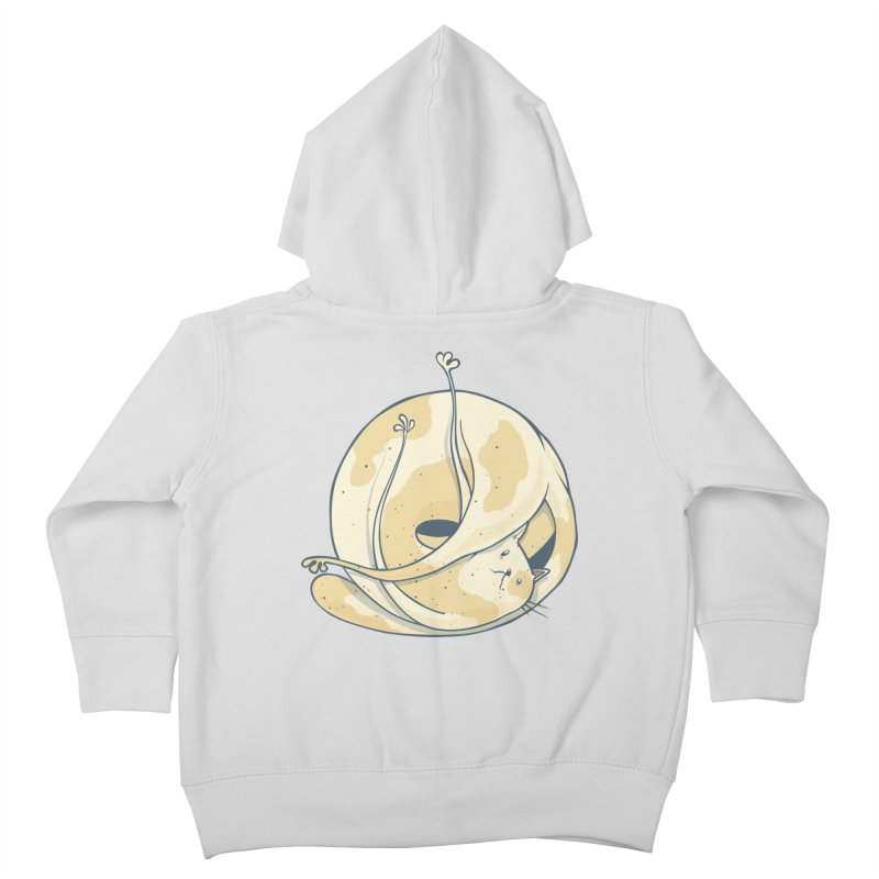 Ball of cat Kids Toddler Zip-Up Hoody by Magnus Blomster