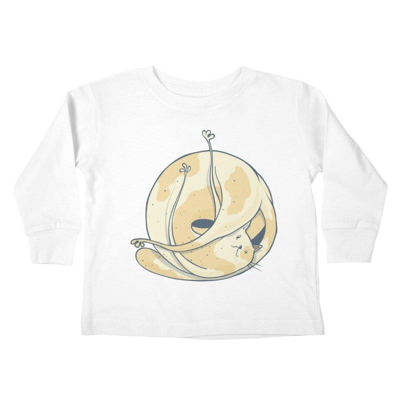 Ball of cat Kids Toddler Longsleeve T-Shirt by Magnus Blomster