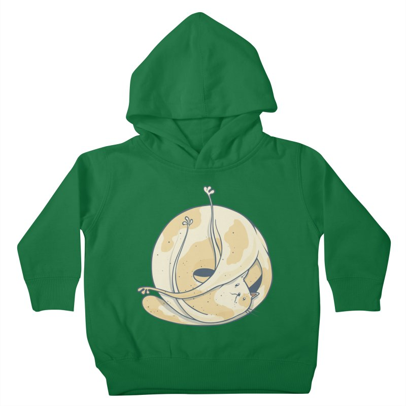 Ball of cat Kids Toddler Pullover Hoody by Magnus Blomster