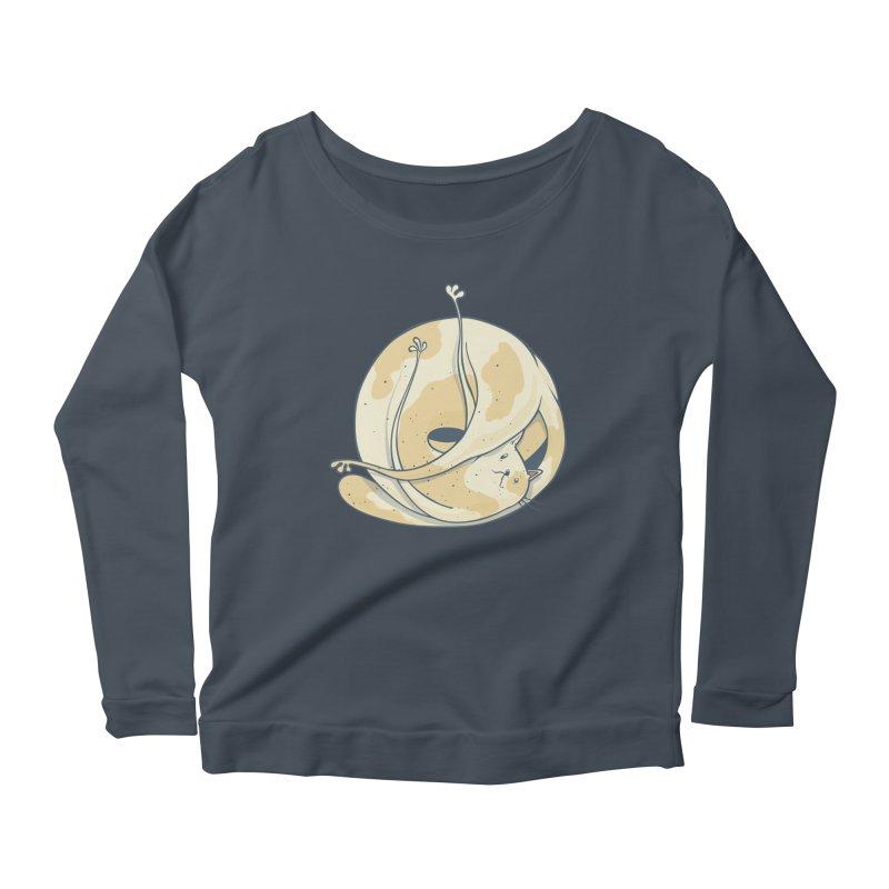 Ball of cat Women's Scoop Neck Longsleeve T-Shirt by Magnus Blomster