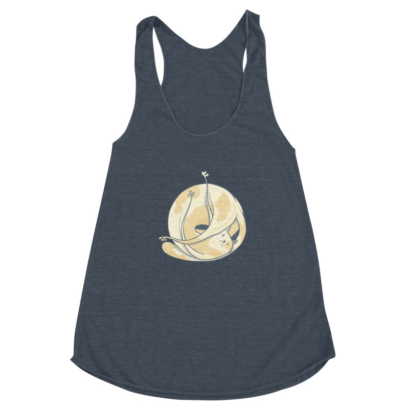 Ball of cat Women's Racerback Triblend Tank by Magnus Blomster