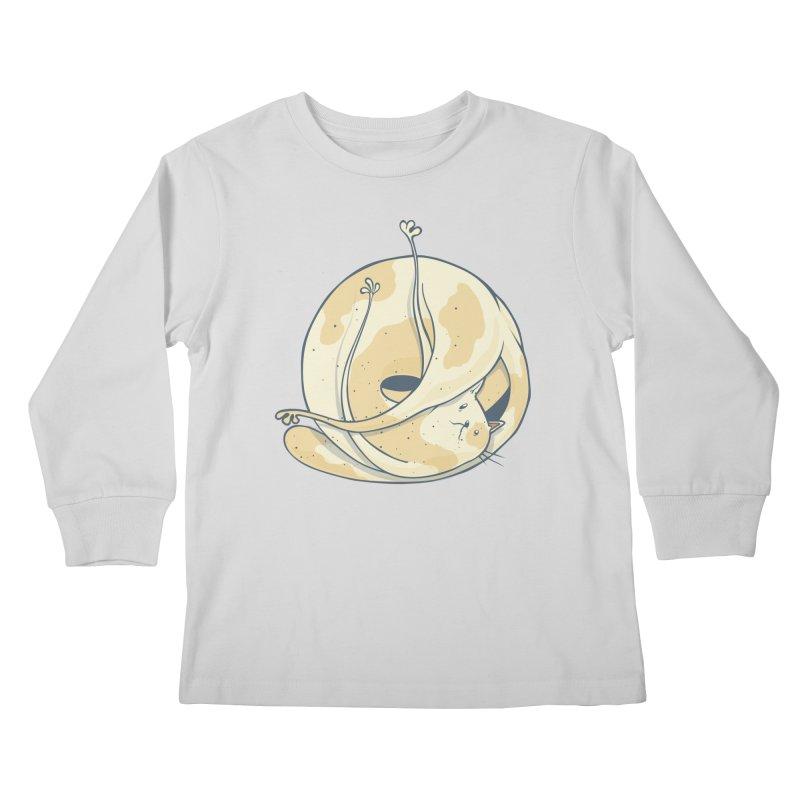 Ball of cat Kids Longsleeve T-Shirt by Magnus Blomster