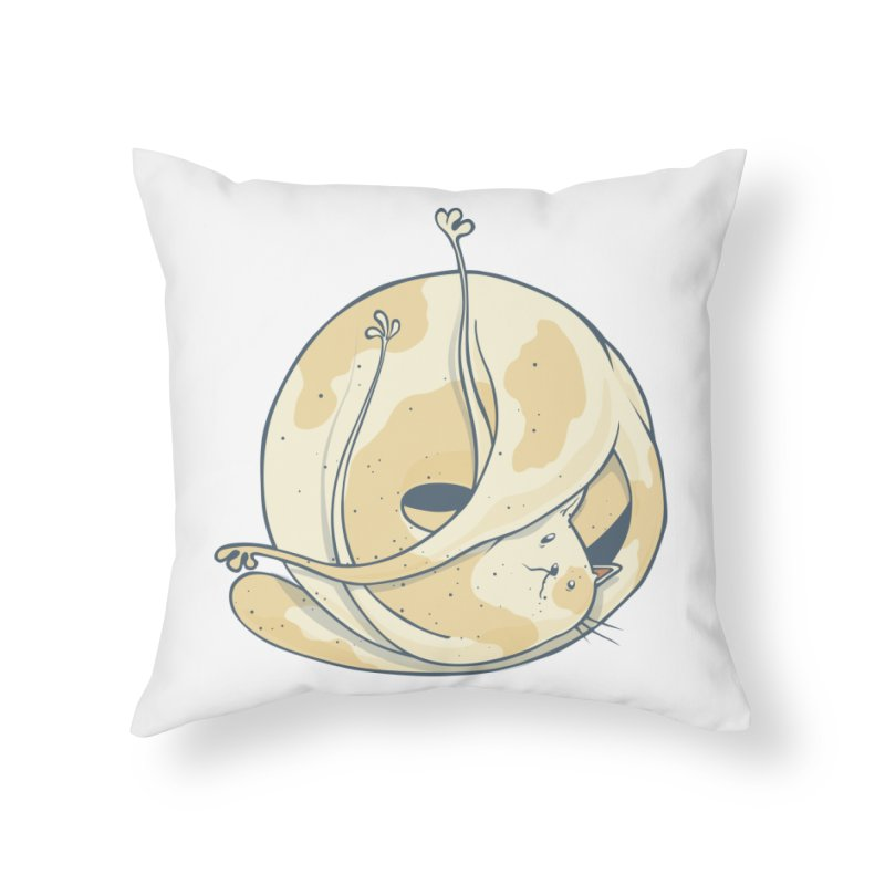 Ball of cat Home Throw Pillow by Magnus Blomster
